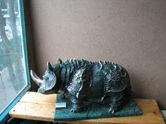 Скульптура, носорог, носороги Владимира Москаленко, бронза, бронзовый носорог, Бронзовые скульптуры Владимира Москаленко,литье, bronze, sculpture, rhino
