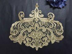 Retro Gold Lace Applique Baroque Lace patch Garment