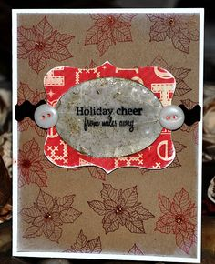 Christmas card using Papertrey Ink stamps.