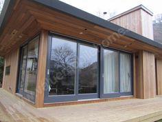 Cedar Cladding Cedar Cladding, House Cladding, Cedar Siding, Small Space Interior Design, Interior Design Boards, Interior Design Living Room, Modern Brick House, Timber House, Soffit Ideas