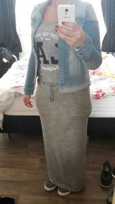 Stoere maxi dress!