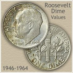 Silver Roosevelt dime values are tied to the value of silver currently ***zs-roo. Silver Roosevelt dime values are tied to the value of silver currently each. However, there are exceptions that trend higher. Discover your valuable Roosevelt dimes. Silver Dimes, Silver Coins, Silver Value, Old Coins Value, Rare Pennies, Old Coins Worth Money, Valuable Coins, Valuable Pennies, American Coins