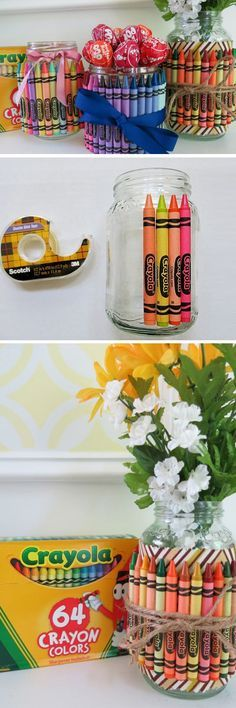 Crayon Container | Click Pic for 23 DIY Christmas Gifts for Teachers From Kids | DIY Teacher Appreciation Gifts from Students --- http://tipsalud.com -----