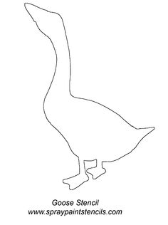 Goose Silhouette Template Stencil outline Wool Applique, Applique Patterns, Goose Tattoo, Animal Knitting Patterns, Tattoo Outline, String Art, Colorful Pictures, Ducks, Wood Crafts