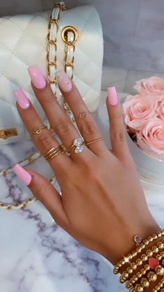 Nails Now, Polygel Nails, Glam Nails, Dope Nails, Bling Nails, Nail Manicure, Manicures, Beauty Nails, How To Do Nails