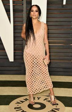 Zoë Kravitz glänzte im Januar auf der Vanity Fair Oscar Party mt ihrer Designer-Robe.