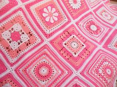 Ravelry: Maryfairy's Pink Square Blanket 2011