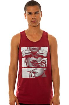 The Blunt Roll Tank Top in Burgundy by Freshjive