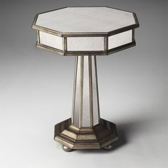 Butler 1137146 Masterpiece Elena Mirrored Accent Table