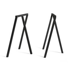 Hay - Loop Tischböcke Stand Frame, schwarz (2 Stück)