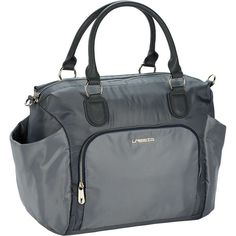 Lässig Wickeltasche Goldlabel, Avenue Bag, grey grau