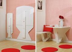 Se faltam alguns metros quadrados de espaço no apartamento onde você mora, agora não faltam mais! Veja essas ideias de móveis criativos!