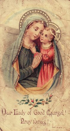 allaboutmary:  Our Lady of Good Counsel! Pray for us!