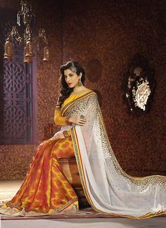 Off White Color Saree With Nice-looking Fancy Pallu