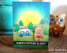 Happy Father's Day by Handmade by Yuki   Party Animal and Happy Trails by Lawn Fawn