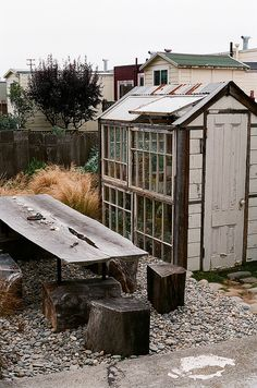 Sans titre, via Flickr.Reminds me of Grandad's shed on his allotment.