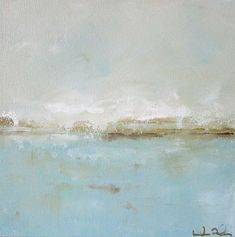 Blue Ocean Painting Seascape Original Art Pretty by lindadonohue