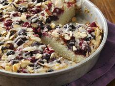 Almond Berry Coffee Cake #GlutenFree