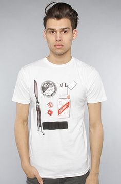 $22 The Rebel Items Tee in White by Freshjive on #karmaloop - Use repcode SMARTCANUCKS for 20% off - http://www.lovekarmaloop.com
