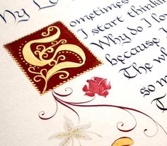 Illuminated Letters for Calligraphy Poems | Poems With Love calligraphyPoems With Love calligraphy