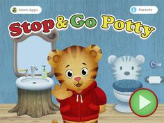 Daniel Tiger's Stop & Go Potty app, developed in collaboration with The Fred Rogers Company and Schell Games, encourages young children to practice bathroom routines at the potty and at the sink with help from beloved animated characters from DANIEL TIGER'S NEIGHBORHOOD.