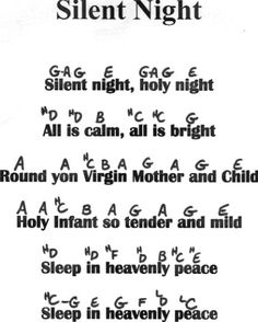 [silentnightrecorderearly.jpg] silent night letter notes for piano keyboard