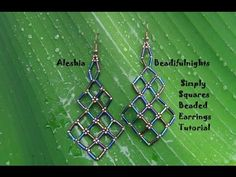 Simply Squares Beaded Earrings ~ Seed Bead Tutorials