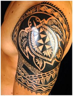 Polynesian Tattoo Designs and Ideas on Arm
