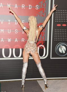 Queen of controversy: The singer was unafraid to not only bare her chest but also her derriere