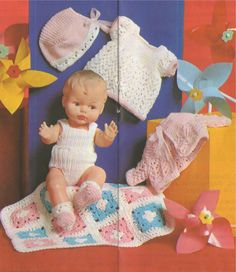 PDF Dolls Clothes Knitting Pattern & Crochet by PDFKnittingCrochet