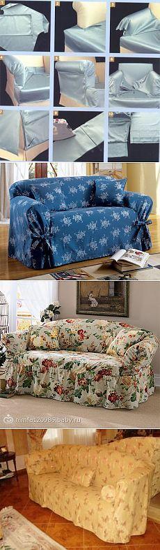 ver as fotos como costurar a cobertura no sofá - Malas