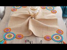 Mandala Motifler Nasıl Dikilir? Ve Kumaşa Nasıl Monte Edilir? - YouTube Crochet Table Runner, Crochet Tablecloth, Crochet Doilies, Crochet Flowers, Crochet Flower Tutorial, Diy Crochet, Crochet Crafts, Mandala Motif, Crochet Mandala
