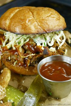 Pulled Pork Sandwich with Chipotle Slaw Super easy weeknight meal.