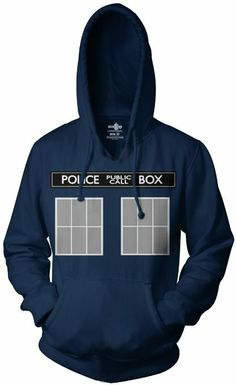 Amazon.com: Doctor Who Tardis Call Box Hoodie Sweatshirt: Clothing