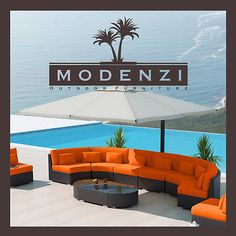MODENZI 11G Modern Patio PE Wicker LARGE Set Outdoor Sofa Furniture Couch Chairs
