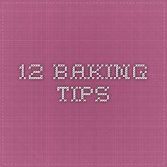 12 baking tips