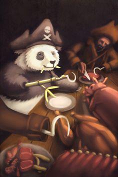 Pirate Panda Bamboo Feast. Cory Caywood