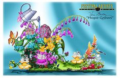 Vera Bradley - Tournament of Roses parade float design--they do all this with real flowers!