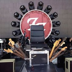 We've seen it in person and it's glorious! Dave Grohl's #GuitarThrone.