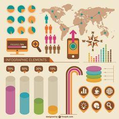 Retro Infographic Design Free Vector