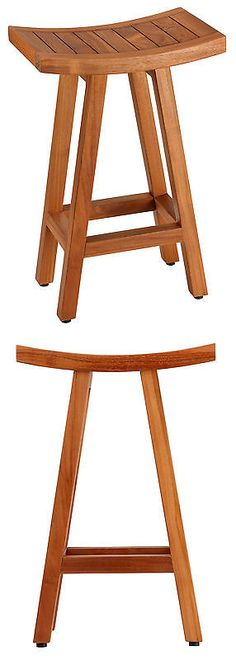 Other Bathroom Items 19783: Bare Decor Tori Spa Bar Stool In Solid Teak, 27.5 Tall -> BUY IT NOW ONLY: $169.99 on eBay!