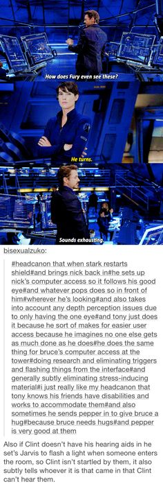 Headcanon that Tony uses his tech to help his friends with disabilities.
