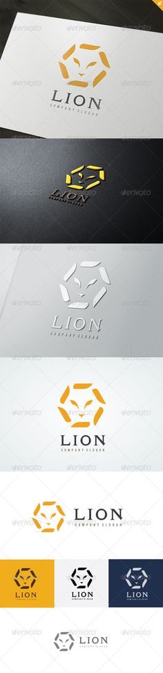 Lion Company Logo  #GraphicRiver         This logo design for all creative business. Consulting, Excellent logo,simple and unique concept.  Logo Template Features   AI and EPS (Illustrator 10 EPS) 300PPI  CMYK  100% Scalable Vector Files  Easy to