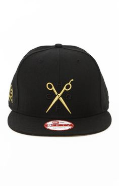 Frank151, Scissors Snap-Back Hat - Black/Gold. #snapbacks #hats