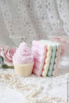Купить Мыльные сладости. Набор мыла, ручной работы. - шоколад, подарок коллеге, подарок кулинару