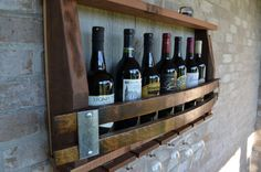 Reclaimed barnwood/Wine Stave wine rack  hints by WineStaveCrafts, $90.00
