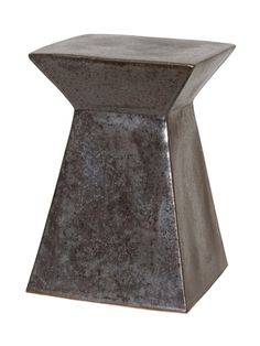 "Upright Garden Stool in Gun Metal $255 12x18""h"