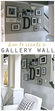diy wall decor How to Hang a Picture - The Easy Way. Create a picture wall or gallery wall with these easy tips and steps. This hanging picture frame tip will save you! Hanging Picture Frames, Hanging Pictures On The Wall, Picture Hanging Designs, Picture Frame Walls, Family Picture Walls, Living Room Picture Ideas, Hanging Photos, Family Photos, Easy Home Decor