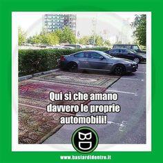 Ami anche la tua auto in questo modo? #bastardidentro #auto #tappeti www.bastardidentro.it