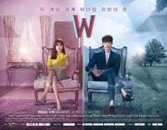 """Episode perdana drama """"W"""" yang dibintangi oleh Lee Jong Suk dan Han Hyo Joo masih terpaut cukup jauh dengan rating """"Uncontrollably Fond""""."""